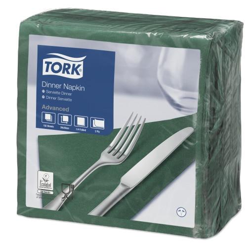 Tork Serviette Dinner, Vert sapin