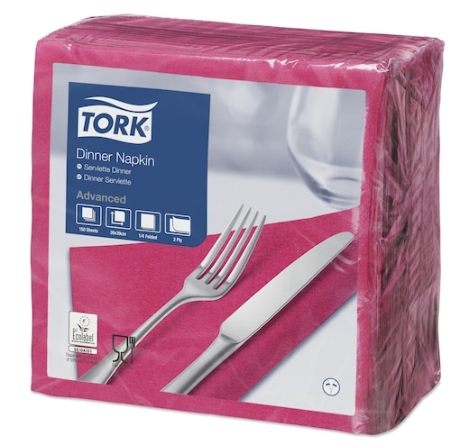Tork Tovagliolo Dinner rosa