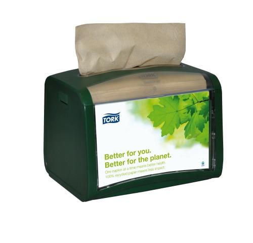 Tork®  Xpressnap Tabletop Napkin Dispenser Green
