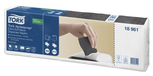 Tork Xpressnap® Extra Soft, sort dispenserserviet