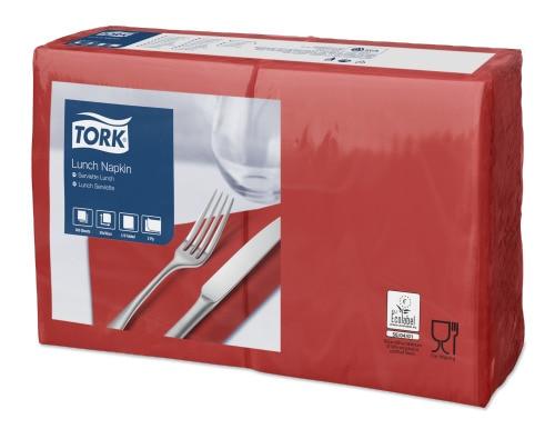 Tork Serviette Lunch, Rouge cerise
