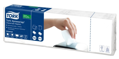 Tork Xpressnap® Custom Print White Dispenser Napkin