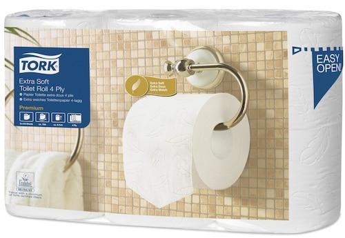 Tork Papier toilette rouleau traditionnel extra doux Premium - 4 plis