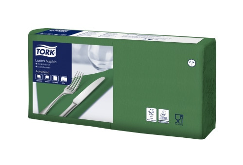 Tork Soft Dark Green Lunch Napkin