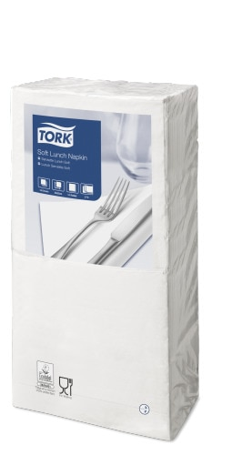 Tork салфетки 33х33 см белые