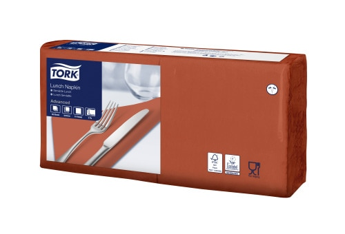 Tork Soft Lunchservietten Terracotta