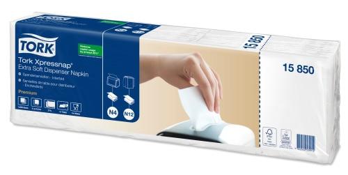 Bílý ubrousek do zásobníku Tork Xpressnap® Extra Soft