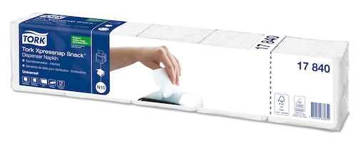 Tork Xpressnap Snack® White Dispenser Napkin