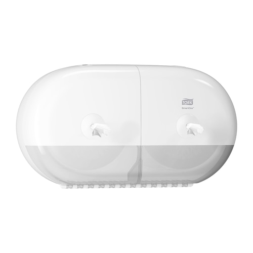 Tork SmartOne® Dispensador Mini Doble Papel Higiénico Blanco