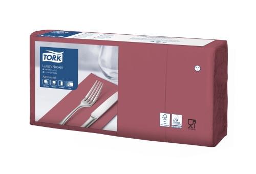 Șervețele de Masă pentru Prânz Tork Soft  Bordeaux Red 1/8 pliat