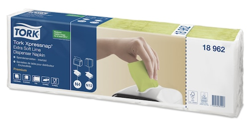 Tork Xpressnap® Ekstra Myk Lime Dispenserserviett