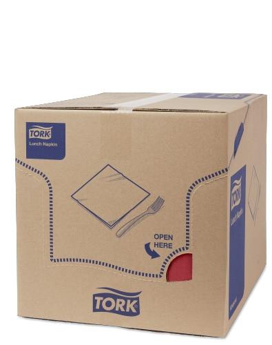 TorkSoft χαρτοπετσέτα γεύματος Bordeaux, διπλωμένη κατά το 1/8