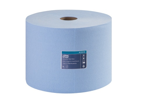 Chiffon en papier Tork pour usages robustes, rouleau géant