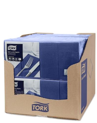 Tork Soft Dark Blue Lunch Napkin 1/8 Folded