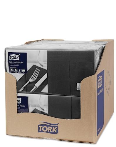 Șervețele de Masă pentru Prânz Tork Soft Black 1/8 pliat