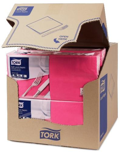 Șervețele de Masă pentru Prânz Tork Soft  Bright Pink