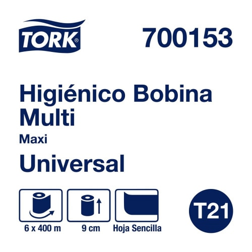 Tork Papel Higiénico en Bobina Maxi Universal