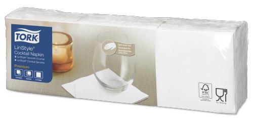 Tork Premium LinStyle® White Cocktail Napkin