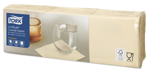 Tork Premium Linstyle® Cream salveta za koktele